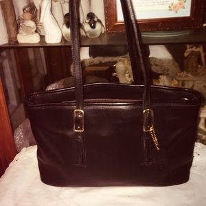 Vintage Coach  Leather Tote Shoulder Bag